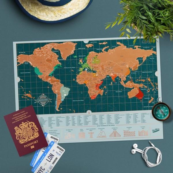 Scratch Map Backpacker