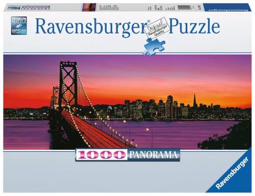 Ravensburger 15104 Puzzle San Francisco, Oakland Bay Bridge bei Nacht 1000T.