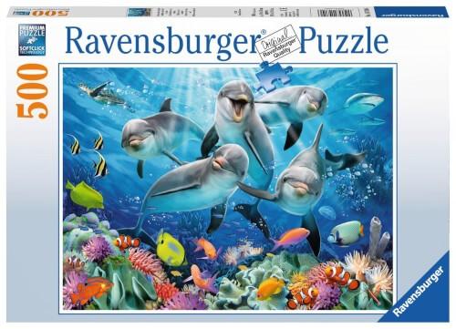 Ravensburger 14710 Puzzle Delphine im Korallenriff 500 Teile