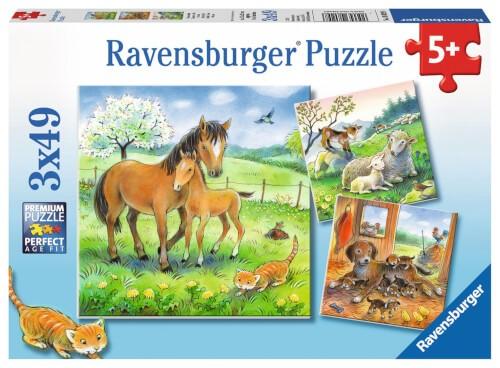 Ravensburger 08029 Puzzle Kuschelzeit 3x49 Teile