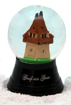 Schneekugel Grazer Uhrturm
