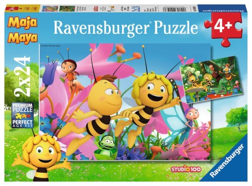 Ravensburger 09093 Puzzle Die kleine Biene Maja 2 x 24 Teile