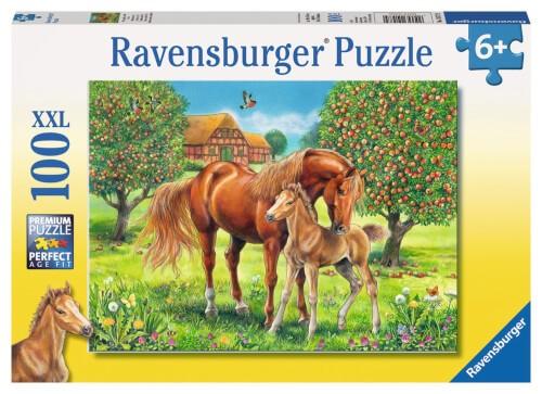 Ravensburger 10577 Puzzle Pferdeglück auf der Wiese 100 Teile