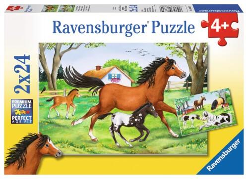Ravensburger 08882 Puzzle Welt der Pferde 2 x 24 Teile