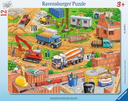 Ravensburger 06058 Rahmenpuzzle Arbeit auf der Baustelle 12 Teile