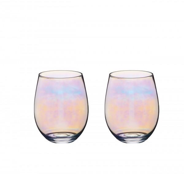 Gläser 2er Set iridescent