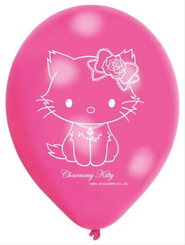 6 Latexballons Happy Birthday 22,8 cm/9''