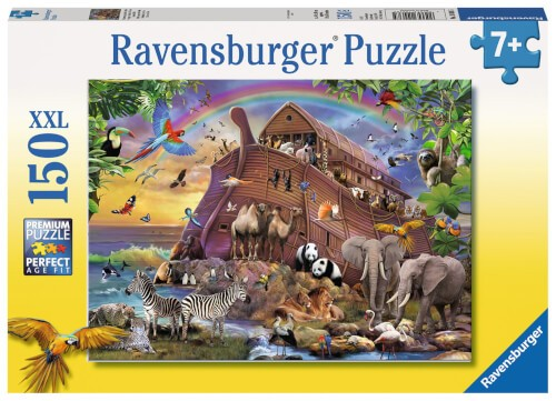 Ravensburger 10038 Kinderpuzzle Unterwegs mit der Arche 150 Teile