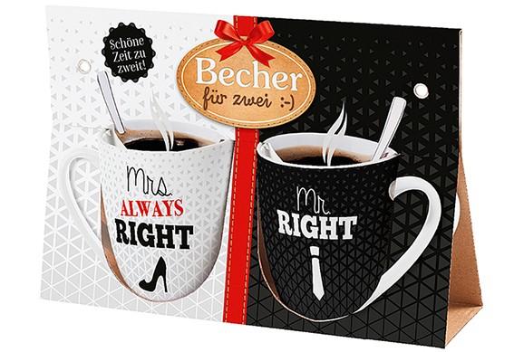 Becher für 2 Mrs, Mr. Right