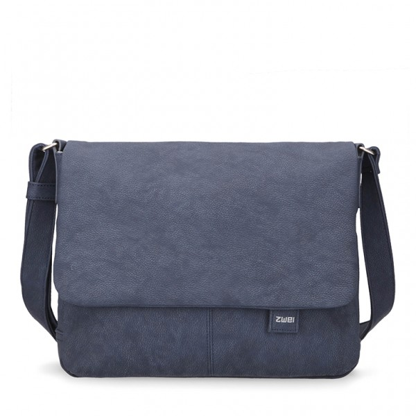 Messengerbag Mademoiselle nubuk blue