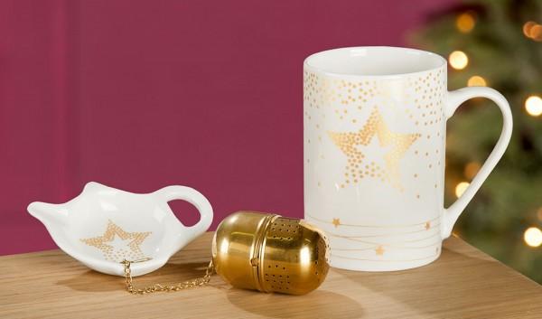 TeeSet mit Sieb Golden Star