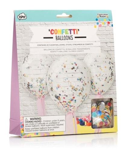 Konfetti Ballons 20 Stück