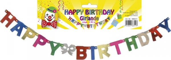 "Girlande ""Happy Birthday"""