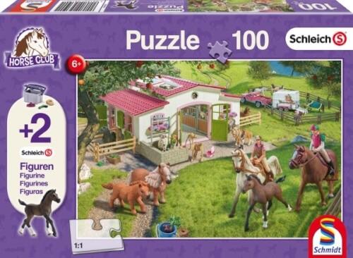 Schmidt Puzzle 56190 Schleich, mit zwei Figuren, Ausritt ins Grüne, 100 Teile, ab 6 Jahre