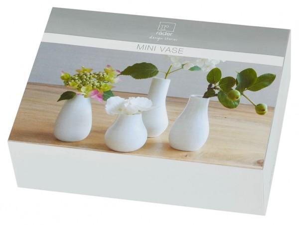 Minivasen weiß 4er Set