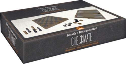 Backgammon/Schachspiel CHECKMATE Urban&Gray