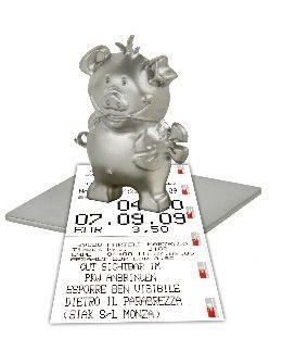 Schwein Zettelhalter