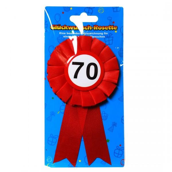 Glückwunsch-Rosette 70