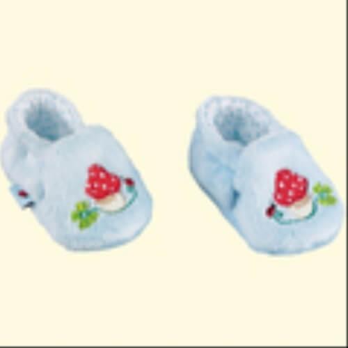 Die Spielburg - Babyschuhe BabyGlück, hellblau, ca. 0-3 Monate