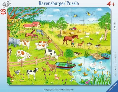 Ravensburger 06145 Puzzle Spaziergang auf dem Land 48 Teile