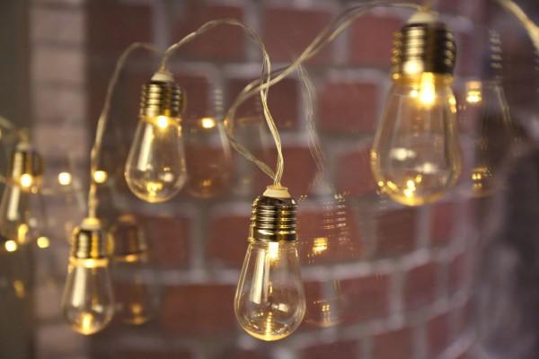 Lichterkette Glühbirnen 2,5m