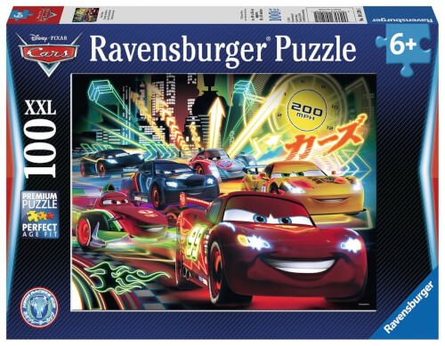 Ravensburger 10520 Puzzle Cars Neon 100 Teile