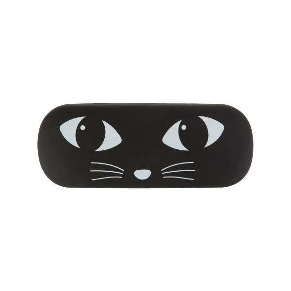 Brillenetui schwarze Katze