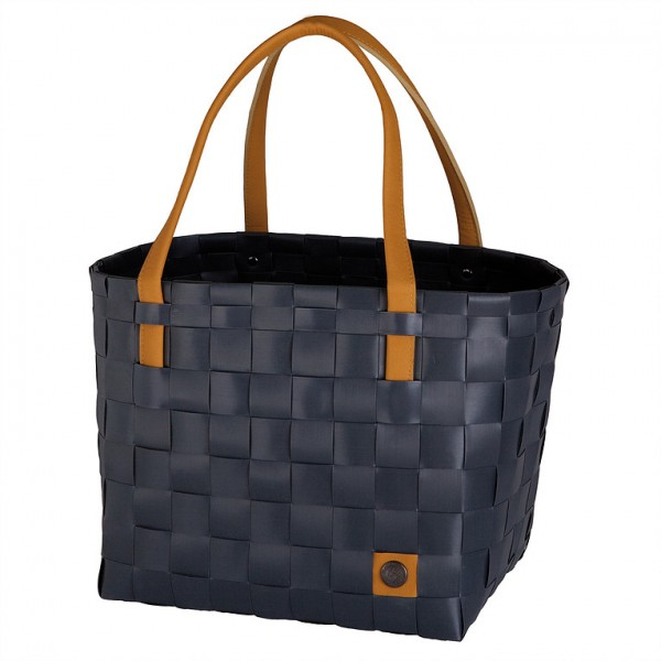 Shopper color block dark grey