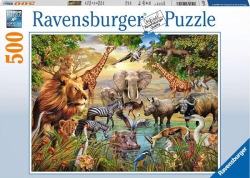 Ravensburger 14809 Puzzle Am Wasserloch 500 Teile