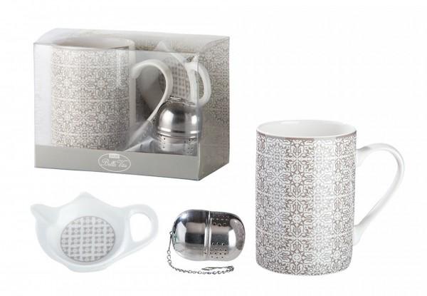 TeeSet mit Sieb grey ornament