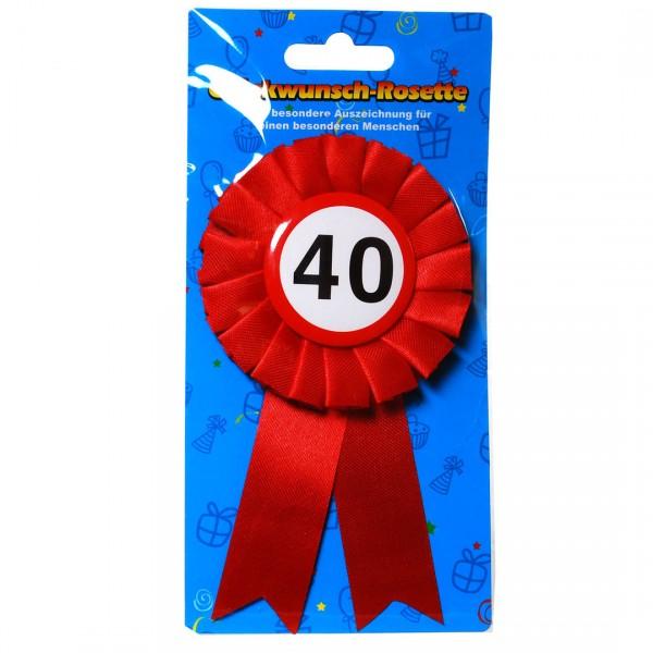 Glückwunsch-Rosette 40