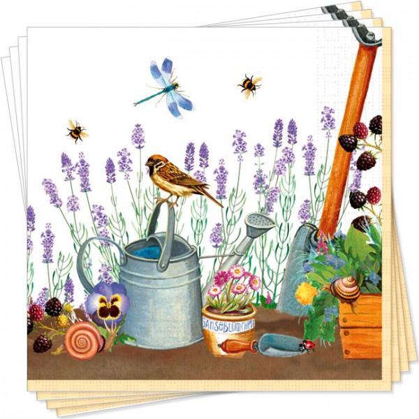 Servietten Gartenwelt