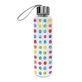 Glasflasche Aquarell Dots