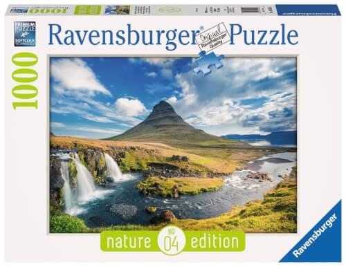 Ravensburger 19539 Puzzle Wasserfall vor Kirkjufell, Island 1000 Teile