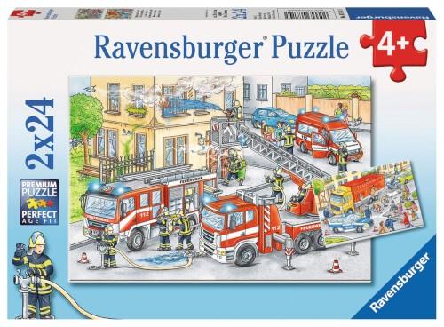 Ravensburger 07814 Puzzle Polizei & Feuerwehr 2x24 Teile