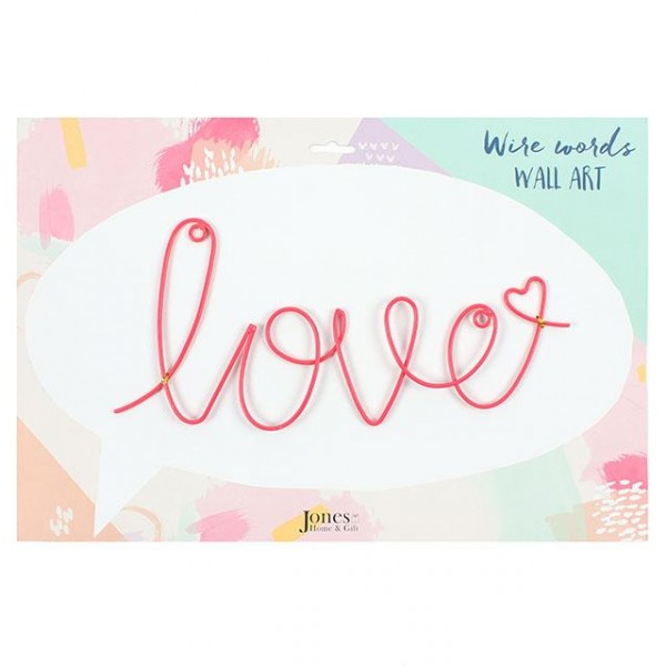 Wanddeko `love' Draht