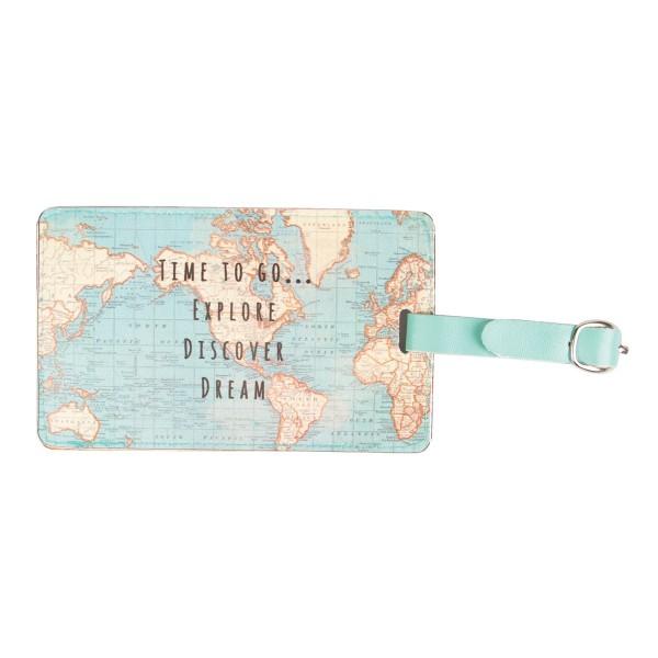 Kofferanhänger vintage map