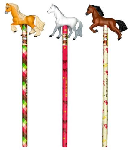 Die Spiegelburg - Bleistift mit Topper Pferdefreunde