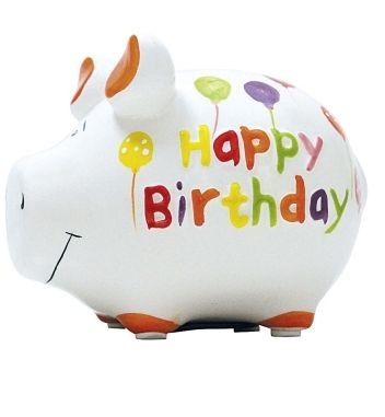 Sparschwein Happy Birthday