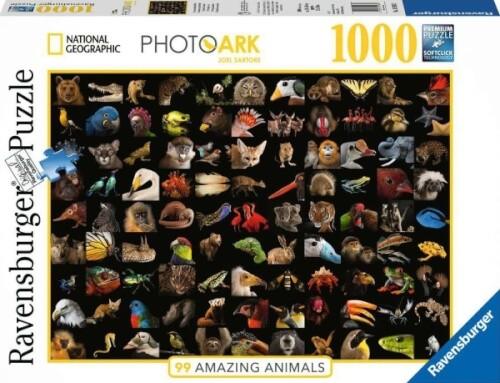 Ravensburger 15983 Puzzle 99 atemberaubende Tiere 1000 Teile
