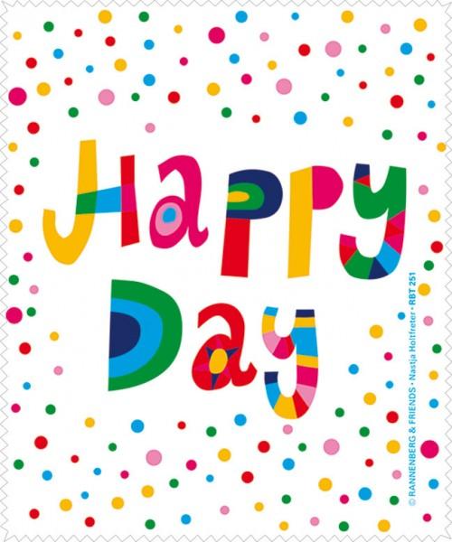 Brillenputztuch Happy Day