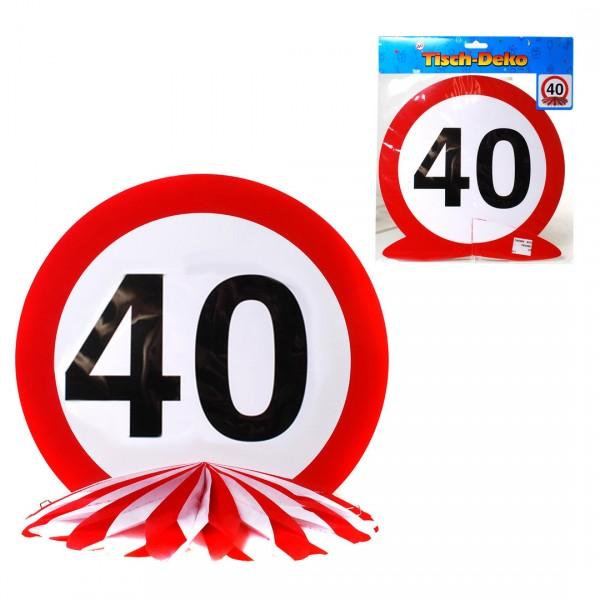 Tischdeko Geburtstag 40