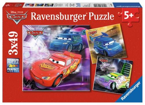 Ravensburger 09305 Puzzle Disney Pixar Cars Auf der Rennstrecke 3 x 49 Teile