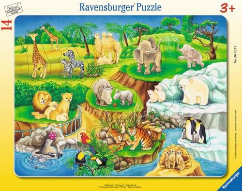 Ravensburger 06052 Rahmenpuzzle Zoobesuch 14 Teile