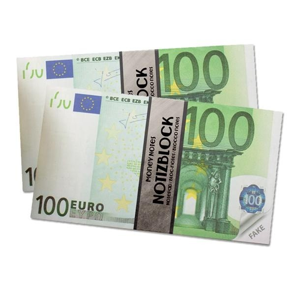 Notizblock Money €100,-