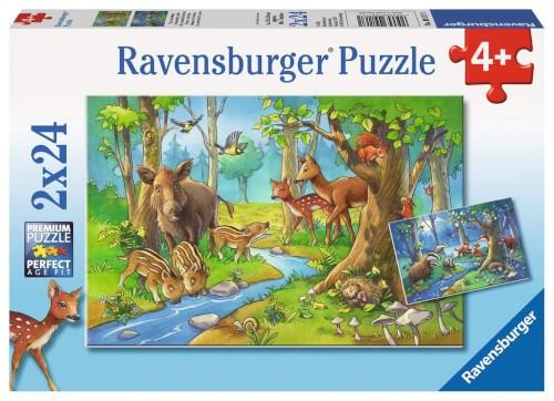 Ravensburger 09117 Puzzle Tiere des Waldes 2 x 24 Teile