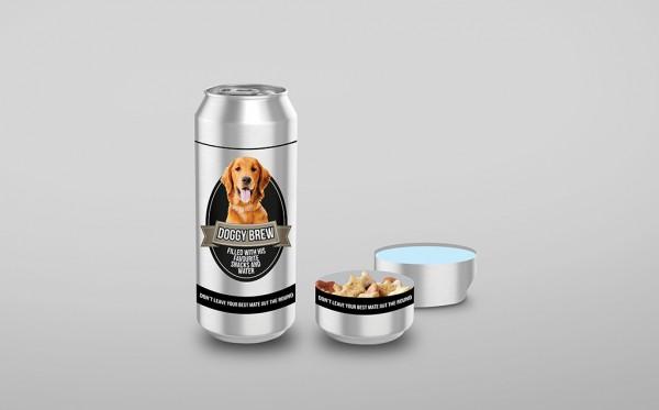 Leckerli- und Wasserbehälter für Hunde