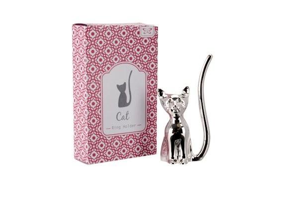 Ringhalter Katze mit Kristallaugen