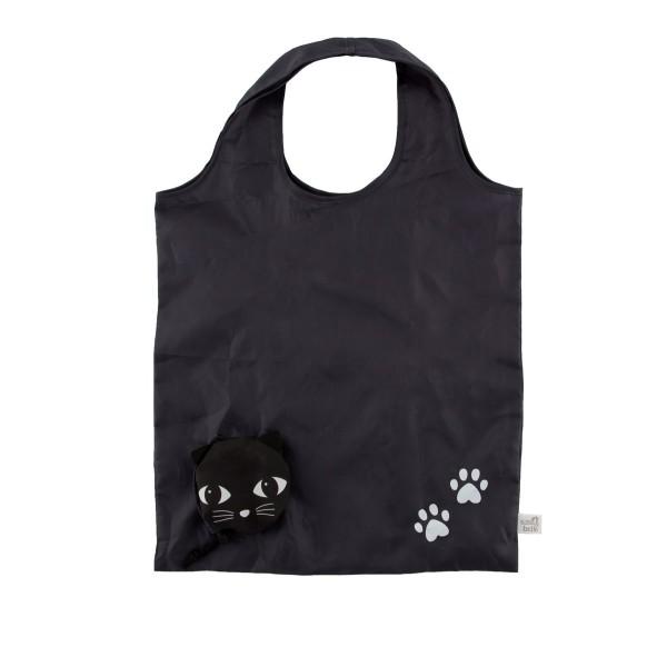 Faltbeutel schwarze Katze