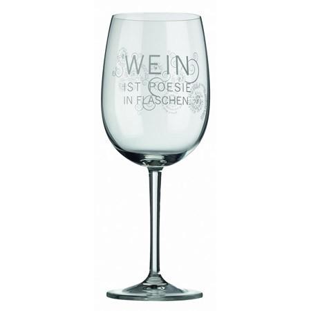 Weinglas Poesie in Flaschen